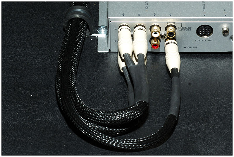 Installing RCA connecters